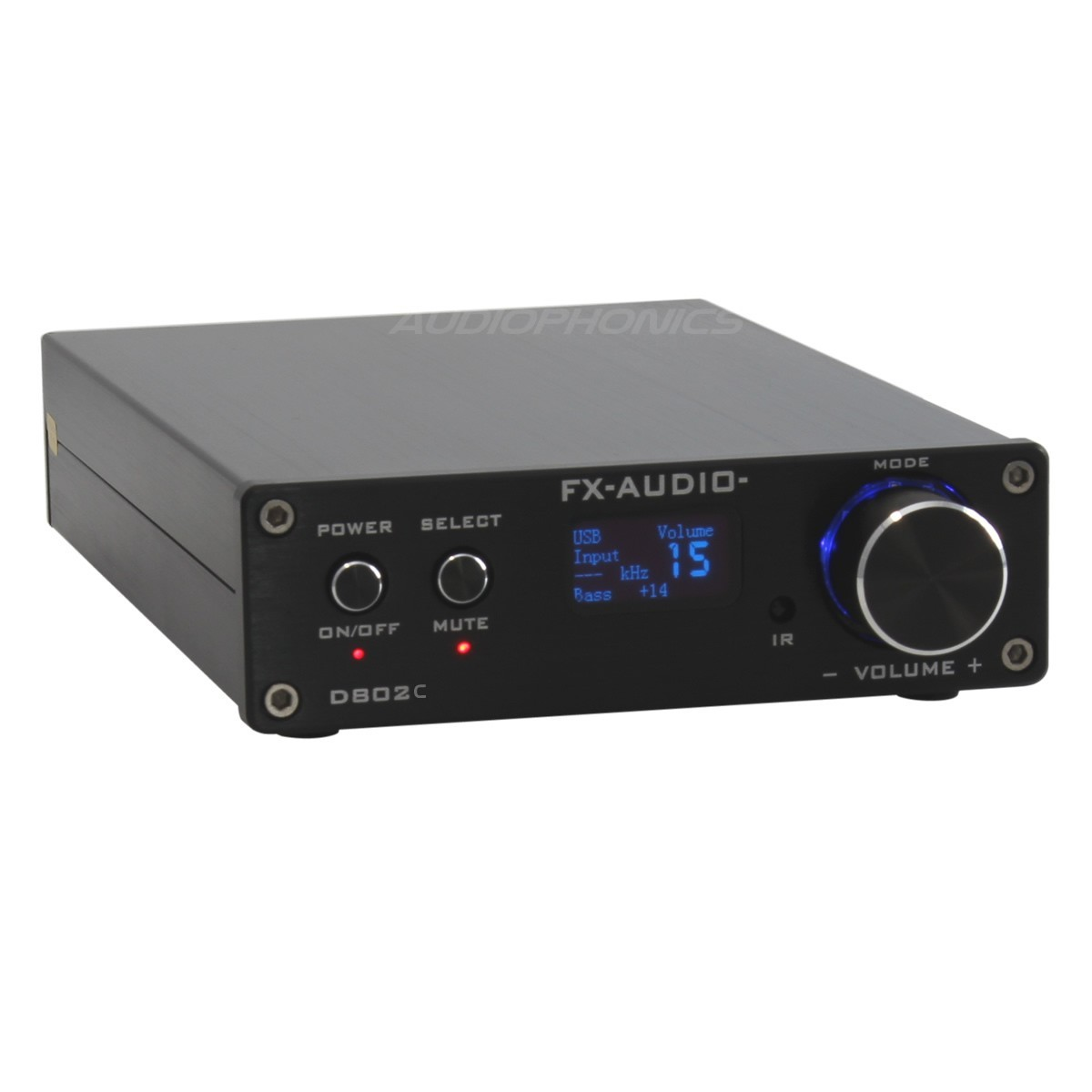 FX-AUDIO D802C Amplificateur FDA Bluetooth 3.0 Class D STA326 2x50W / 8 Ohm Noir