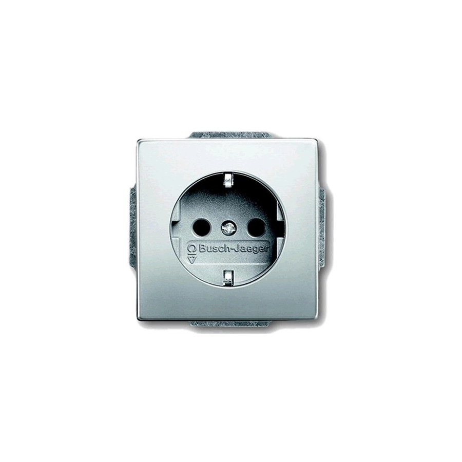 busch jaeger schuko wall plate 16a 250v audiophonics. Black Bedroom Furniture Sets. Home Design Ideas