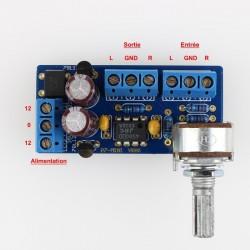 LJ P7 Mini Stereo Preamplifier AOP JRC 4580 D