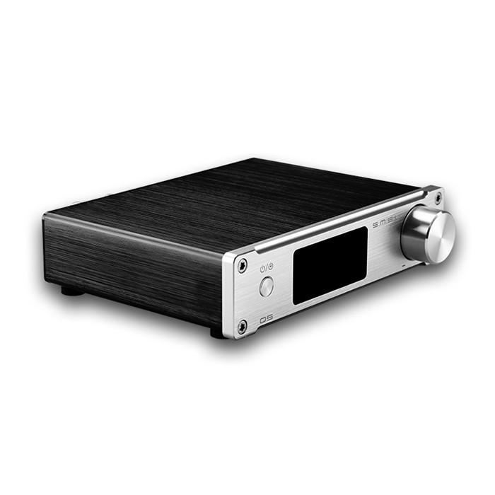 SMSL Q5 Amplifier STA350BW 2x 50W AKM AK5358AET sa9027 24bit 192kHz Silver