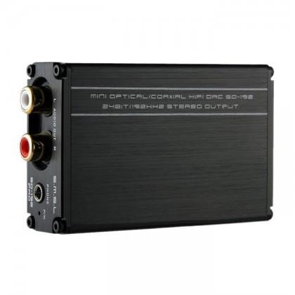 SMSL SD-192 Pro DAC ES9023 24bit 192kHz S/PDIF Coaxial Optique Toslink