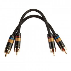 SMSL W6 Interconnect Cable Gold plated RCA Oyaide OFC 0.21m (Pair)