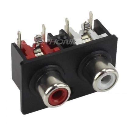 HOSIDEN Embase horizontale RCA pour circuits imprimés