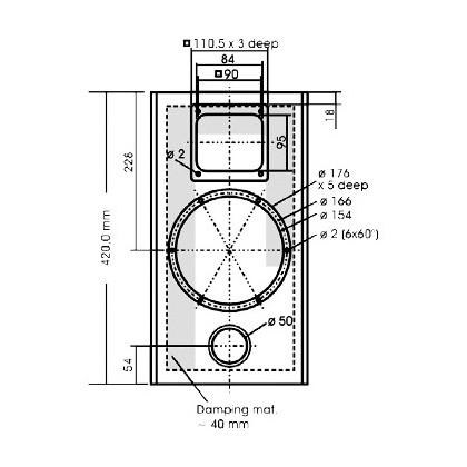 Kit DIY Supravox 215RTF Baffles compensés