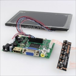 "Audiophonics Kit ecran LCD 7"" 1280X800 VGA / COMPOSITE / HDMI"