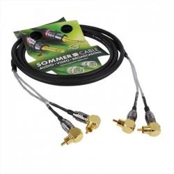 SOMMERCABLE QUANTUM 2 Câble OFC RCA coudé vers RCA coudé Stéréo 2.5m