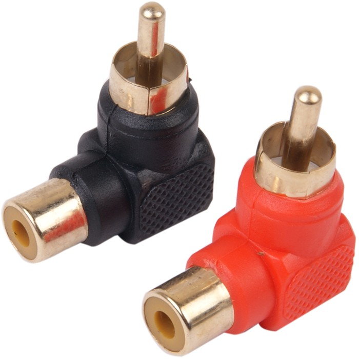 90 ° angled RCA adapters (pair)