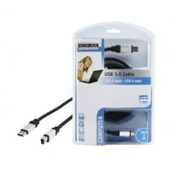 KONIG ELECTRONIC Câble USB-A mâle vers USB-B mâle 3.0 OFC 1.8m