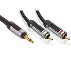 PROFIGOLD PROA3401 Câble Jack 3.5mm vers 2 RCA mâle OFC 1m