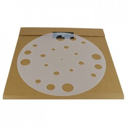 1877PHONO Rubber Mat Silicone turntable record Support White