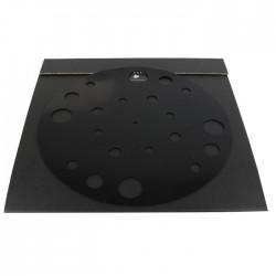 1877PHONO Rubber Mat Couvre plateau / Support absorbant Silicone pour vinyle Noir