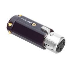 FURUTECH FP-602F (R) Connecteur XLR Femelle 3 Pôles Plaqué Rhodium Ø 12mm (Unité)