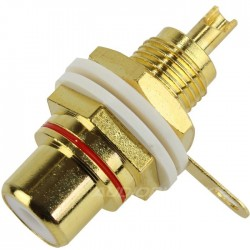 ELECAUDIO ER-104 RCA Inlet Gold plated Red (Unit)