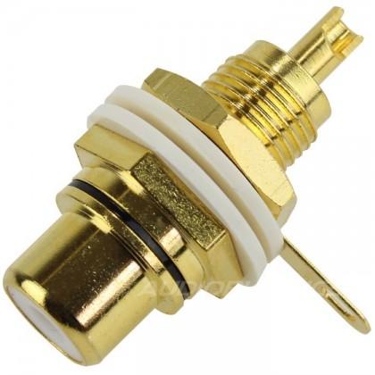 Audiophonics ER-104 - Embase RCA Plaquée OR Noir (Unité)