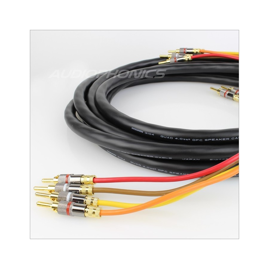 Mogami 3104 High Performance Speakers Cable Bi Amp 3m Pair Wiring To