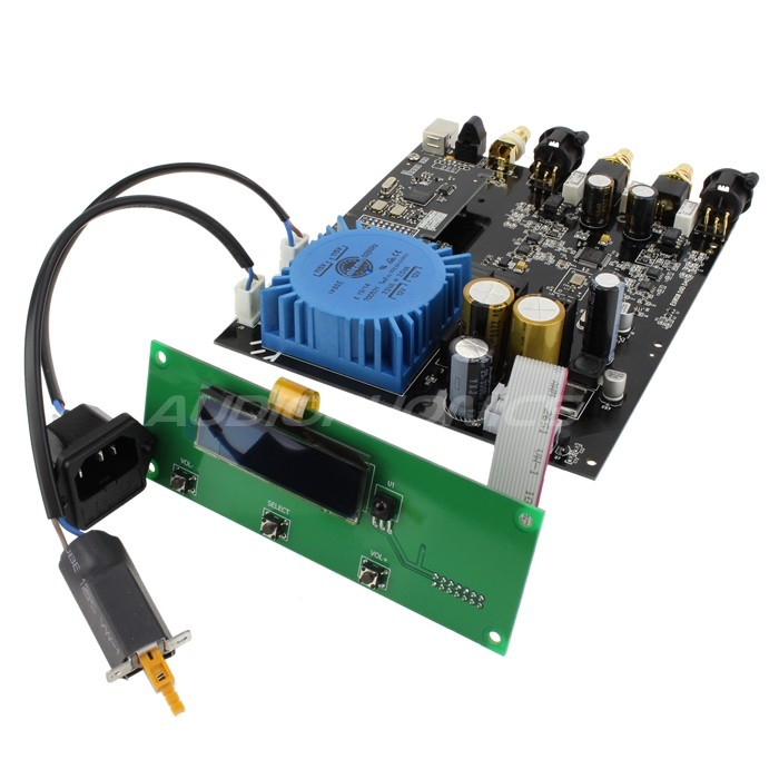 AUDIOPHONICS U-SABRE ES9018 MK2 DAC 100MHz Clock 32bit / 384khz XMOS DSD KIT