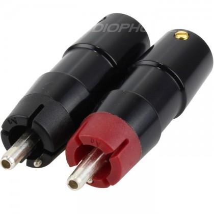 ETI Bulletplug Special RCA Argent pur 4N Ø 9.2mm (Set x4)