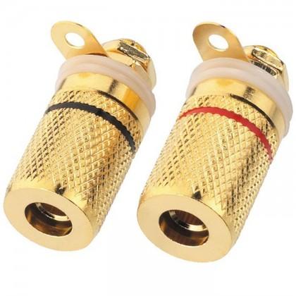 Monacor BP-250G Borniers pour plaque métallique (la paire)