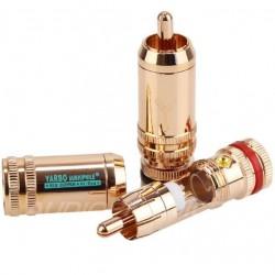 Yarbo RCA-020RC RCA Plug Red Copper Ø 7.8mm (La paire)