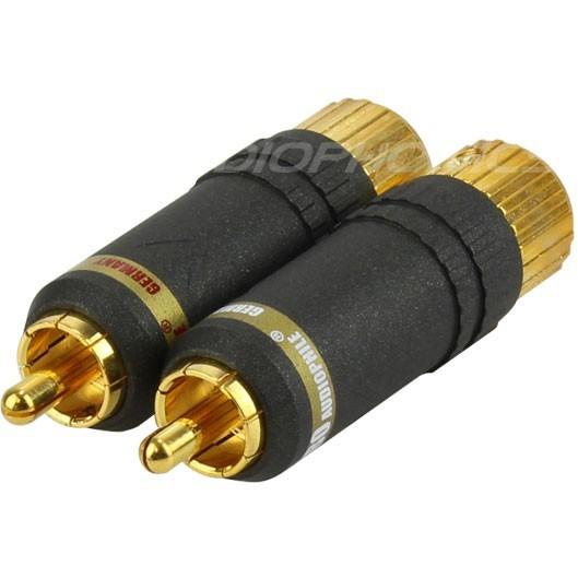 Yarbo RCA-017 Connecteurs RCA plaqué Or Ø 8.5mm (La paire)