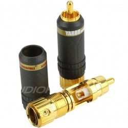 Yarbo RCA-017 RCA Plug Gold Plated Ø 8.5mm (La paire)