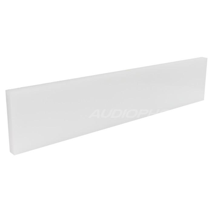 White HDPE plate 450x96x15mm