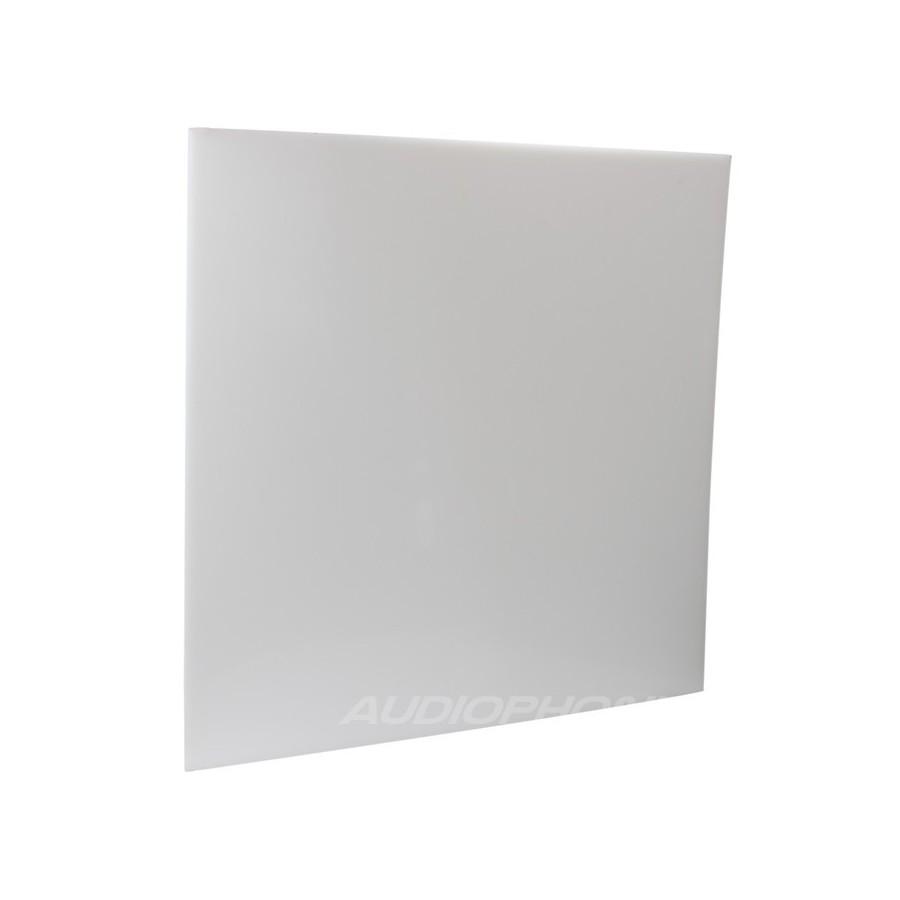 plaque pvc blanche 495x495x3mm audiophonics. Black Bedroom Furniture Sets. Home Design Ideas