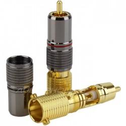 W&M Audio CS-1023 Connecteurs RCA à souder Ø 12mm (La paire)