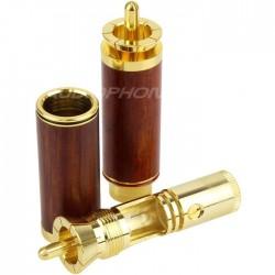 W&M Audio Connecteurs RCA plaqué Or Ø 8.2mm (La paire)