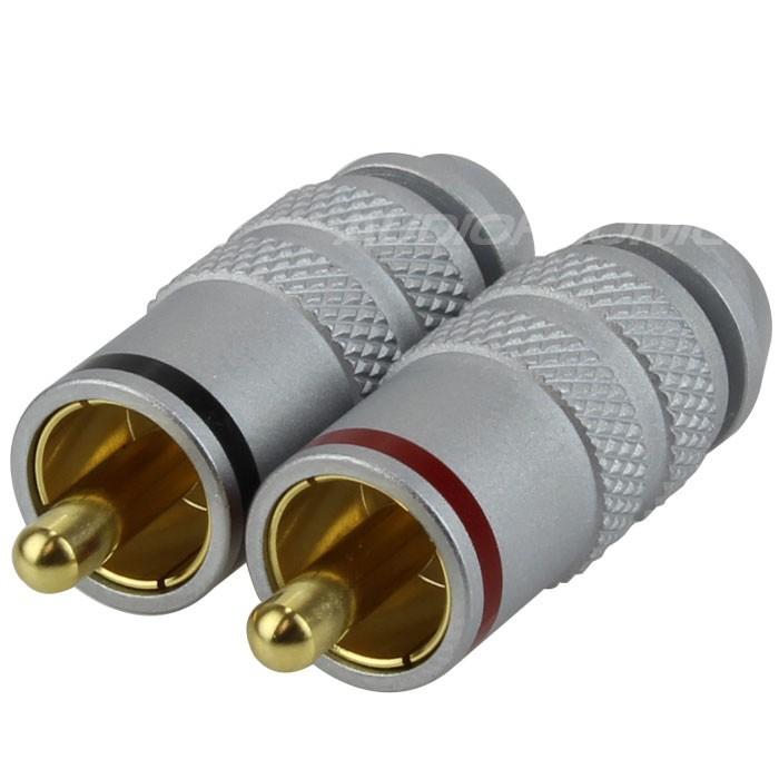 W&M Audio Connecteur RCA 75 Ohm SPDIF Vidéo Ø 6mm (La paire)