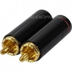 WM AUDIO Connecteurs RCA à souder Ø8.5mm (La paire)