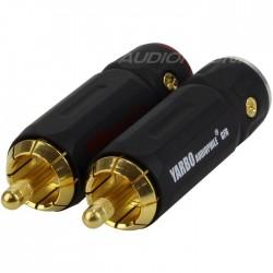 Yarbo RCA-007GB Black Connecteurs RCA Ø 9mm (La paire)