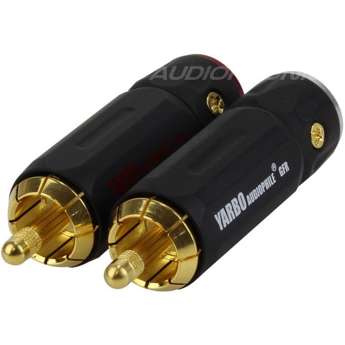 Yarbo RCA-007GB Black RCA Plug Ø 9mm (La paire)
