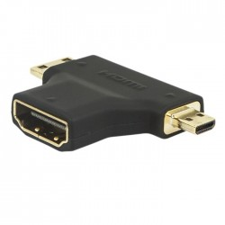 HDMI Adaptor Gold Plated HDMI Type A female to HDMI Type C male & Type D male