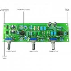 LITE Audio Kit Préamplificateur / Atténuateur avec contrôle de tonalité DIP8