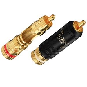 WBT-0144 Connecteurs RCA Midline à souder Ø9mm (La paire)