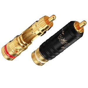 WBT-0144 Connecteurs RCA Midline à souder Ø 9mm (La paire)