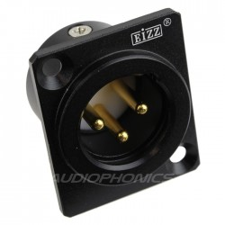 EIZZ EZ-108M Gold plated male XLR inlet PTFE