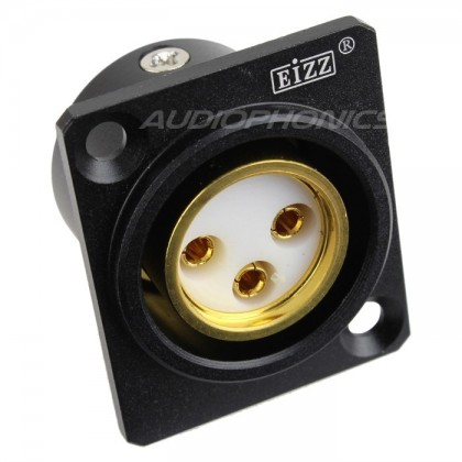 EIZZ EZ-108F Gold plated female XLR inlet PTFE