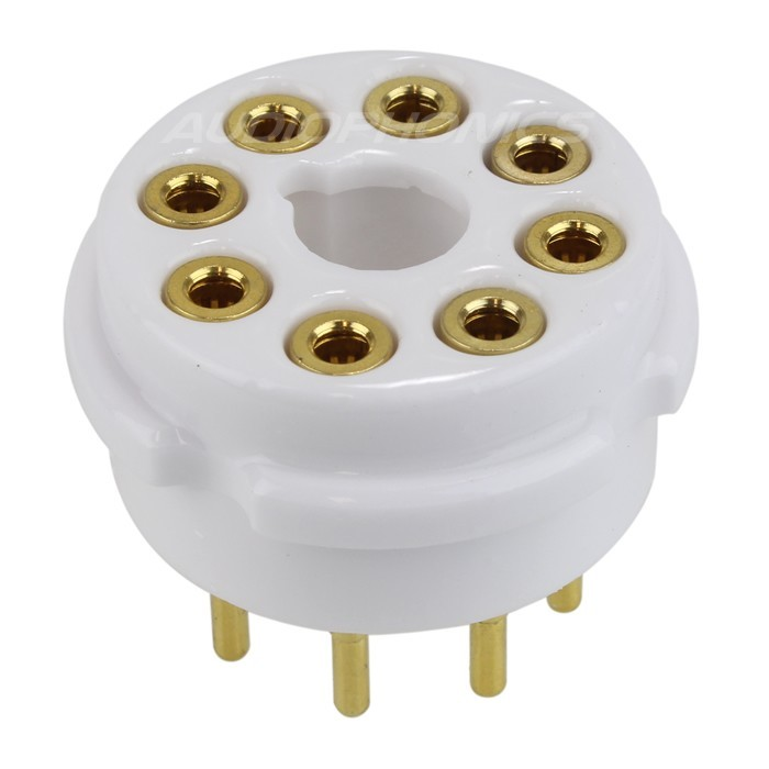 EIZZ EZ-1108 Ceramic tube socket Gold plated 8 pins FU50 5Z8P KT66