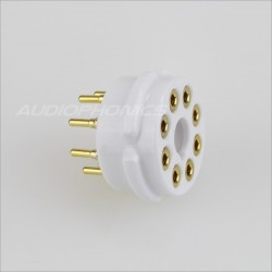 EIZZ EZ-1108 Bakelite tube socket Gold plated 8 pins