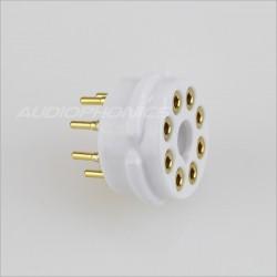 EIZZ EZ-1108 Bakelite tube socket Gold plated 8 pins