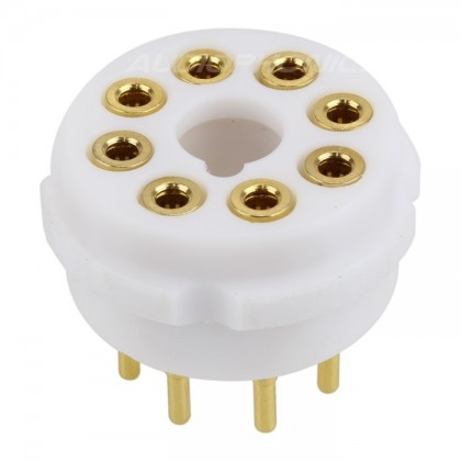 EIZZ EZ-1208 PTFE tube socket Gold plated 8 pins FU50 5Z8P KT66