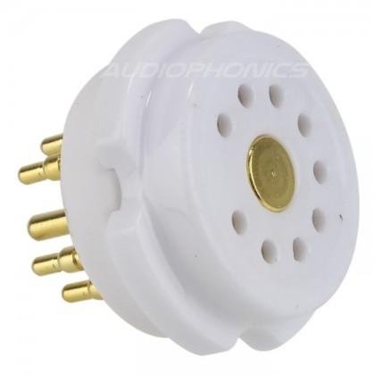 EIZZ EZ-1109 Support de tube céramique 9 pins plaqué Or