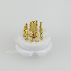 EIZZ EZ-1109 Ceramic tube socket Gold plated 9 pins