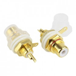 EIZZ EZ-101 Gold plated 24k RCA inlet (Pair)