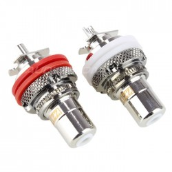 EIZZ EZ-104 Rhodium plated Tellurium Copper RCA inlet outside screw (Pair)