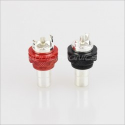 EIZZ EZ-105 Gold plated Te Copper RCA inlet outside screw (Pair)