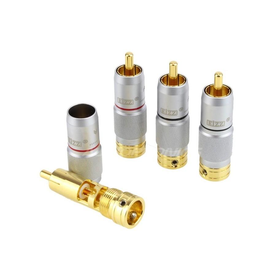 Eizz Ez 203 Gold Plated Tellurium Copper Cinch Rca Copper