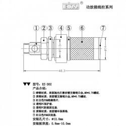 EIZZ EZ-302 Borniers Cuivre Tellurium plaqué Rhodium (La paire)